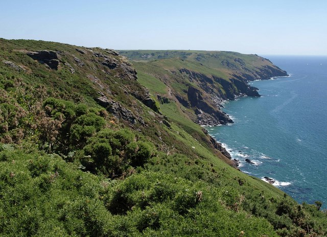 Landscape photo of the South Devon coastal cliffs at Bolberry Down