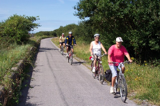 Photo of cyclists on a quite lane on the Tarka Trail