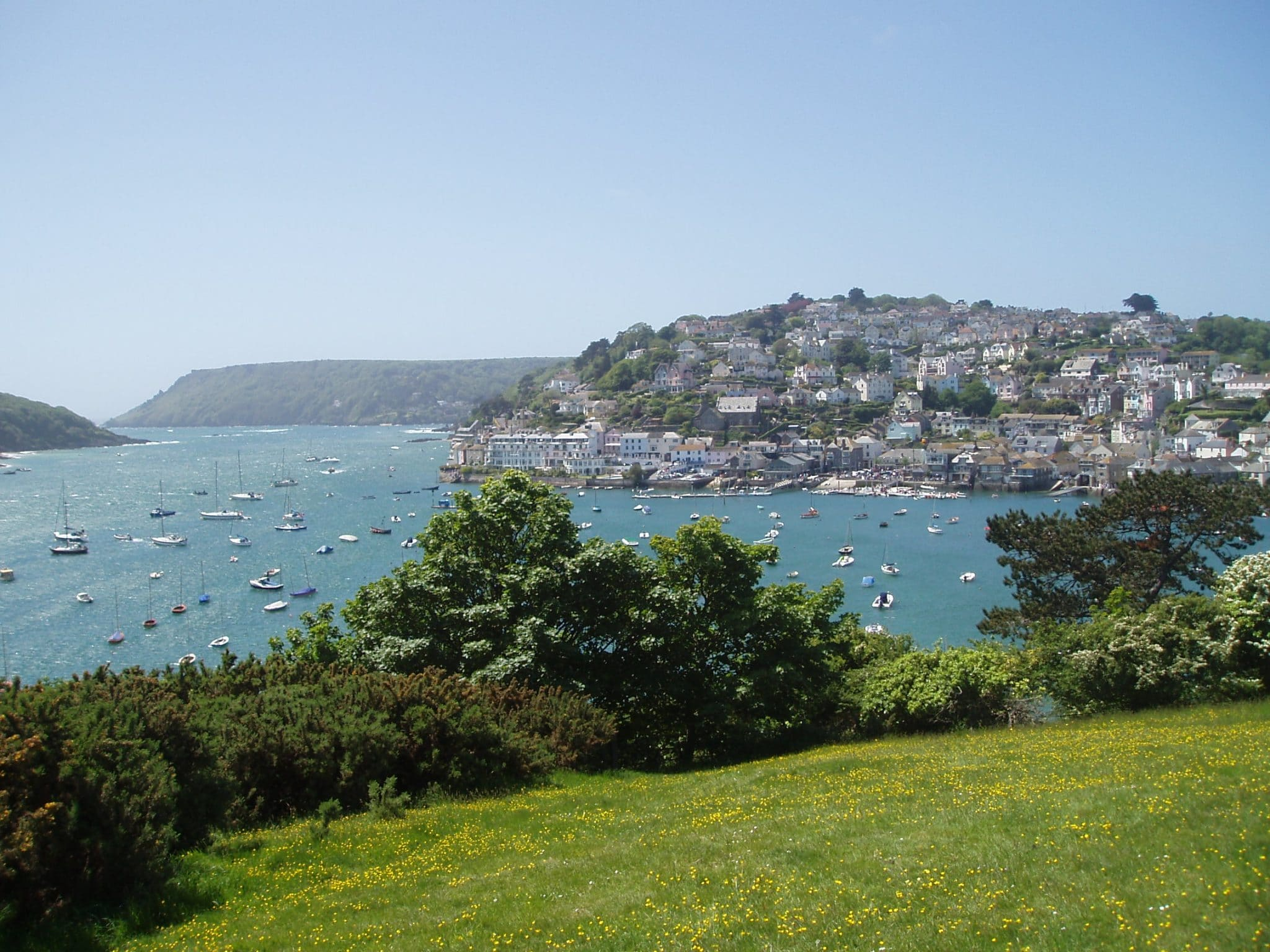 Photo looking down towards the town of Salcombe and Salcombe Harbour from Snapes Point