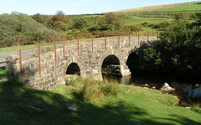 Photo of a bridge over a river at Merrivale