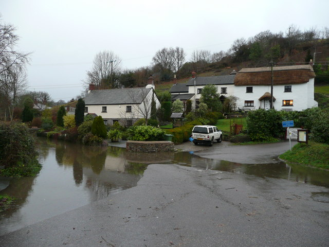 Photo of flooded lanes at Weare Giffard