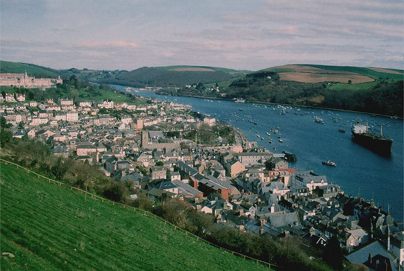 Photo of Dartmouth from above taken from the hill behind