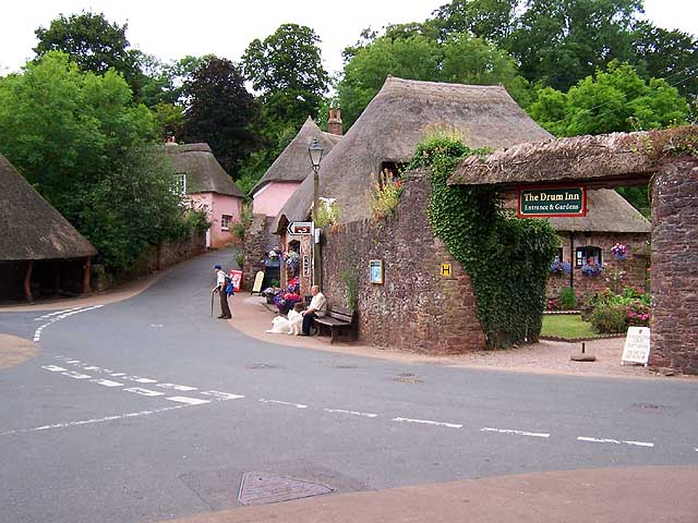 Photo of a public house, The Drum Inn, in the village of Cockington