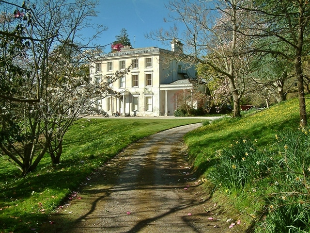 Photo of Greenway House looking up along the drive