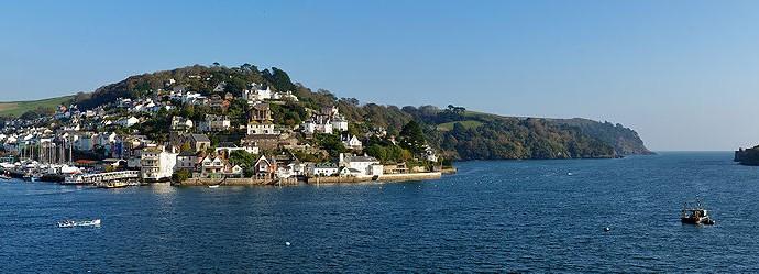 Landscape photo looking across the Dart estuary to Kingswear