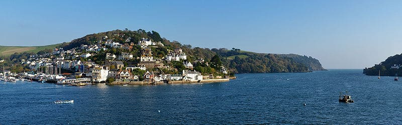 Landscape photo looking across the Dart estuary to Kingswear