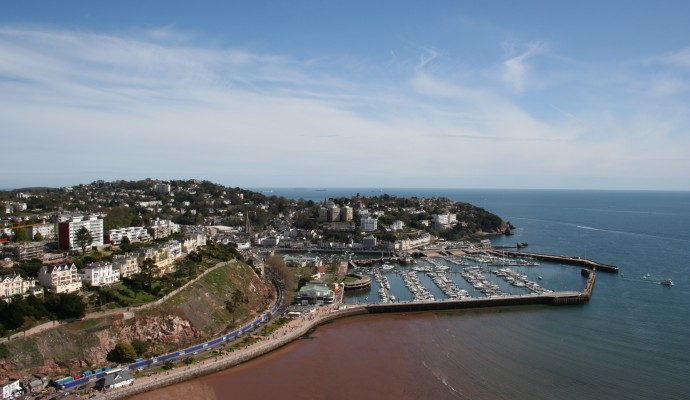Photo looking across Torquay harbour from above