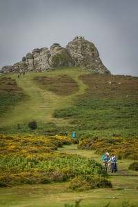 Haytor with walkers