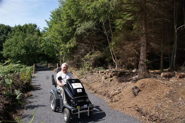 Photo of a man on a tramper on trails at the Tamar Trails Centre