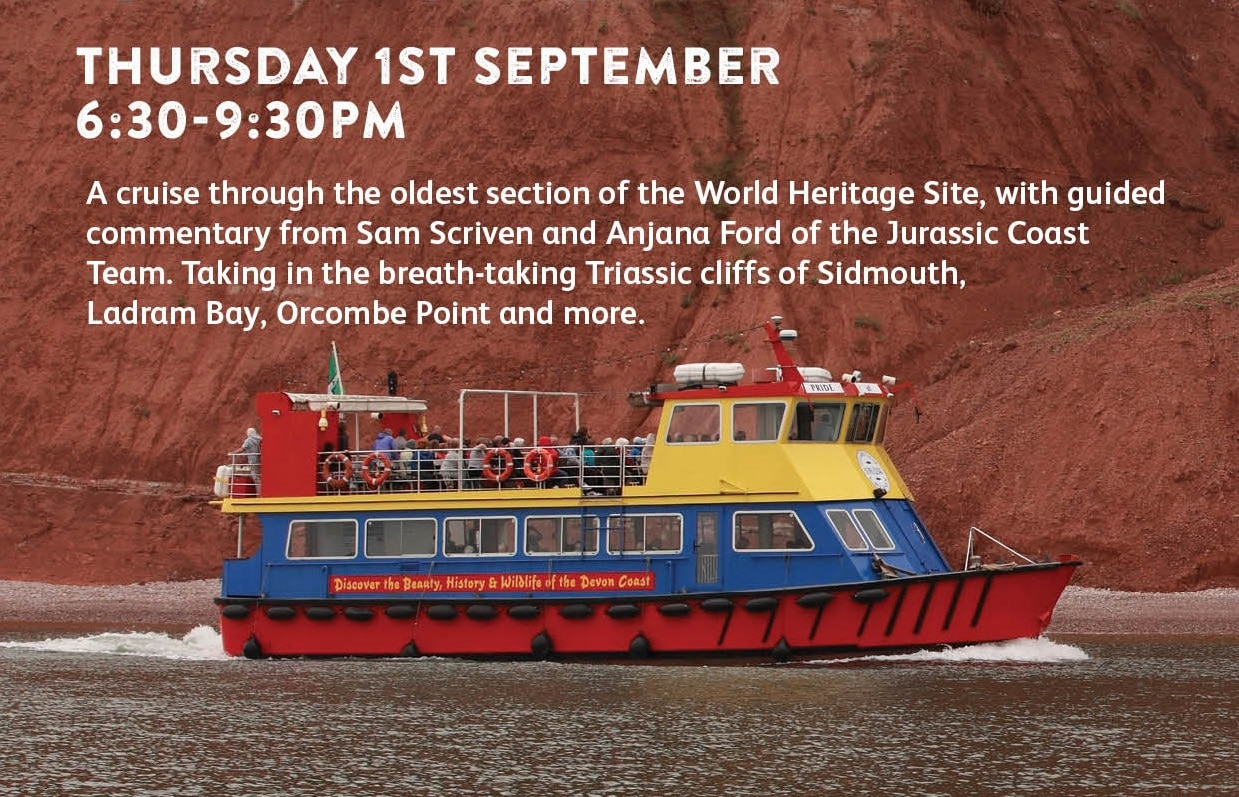 Photo advert for the Triassic Coast cruise event in September 2016