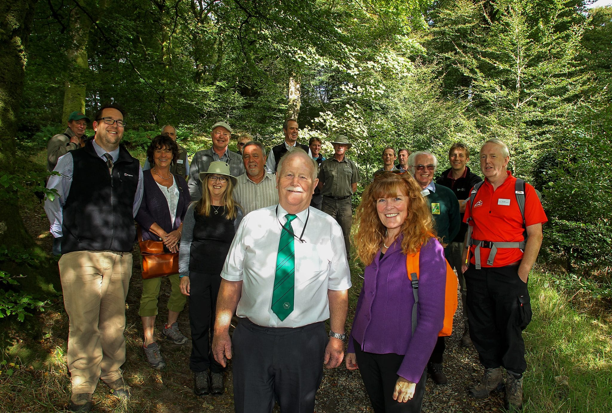 Photo of walkers on the Two Moors Way, Devon's Coast to Coast walking route on the 40th Anniversary of the route opening