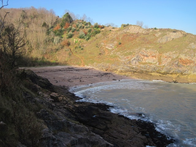 Photo of beach, sea nd coast at Churston Cove near Brixham from the South West Coast path