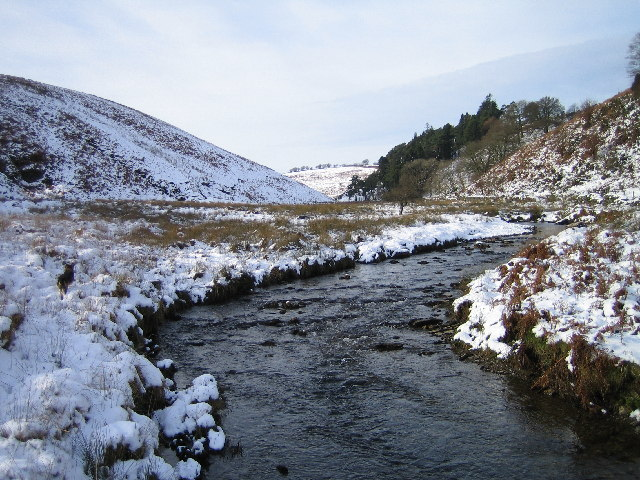 Photo of a river in the snow at Exmoor's Barle Valley