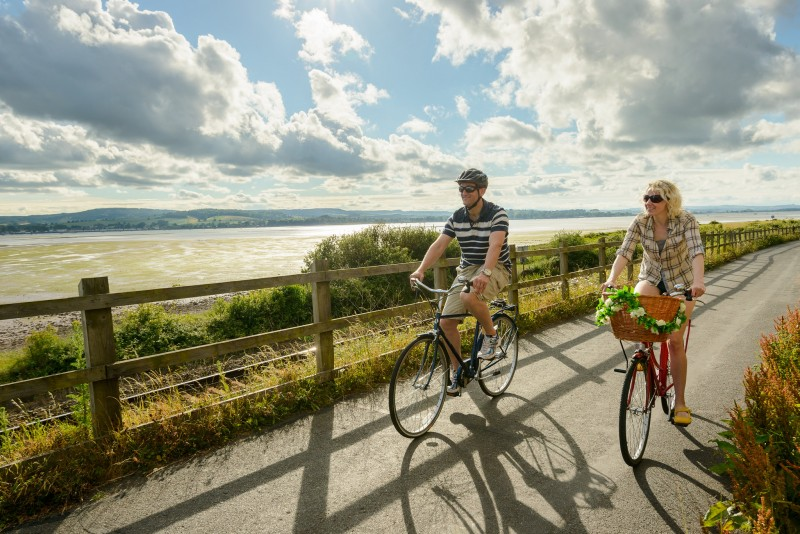 Photo of cyclists on the Exe Estuary Trail