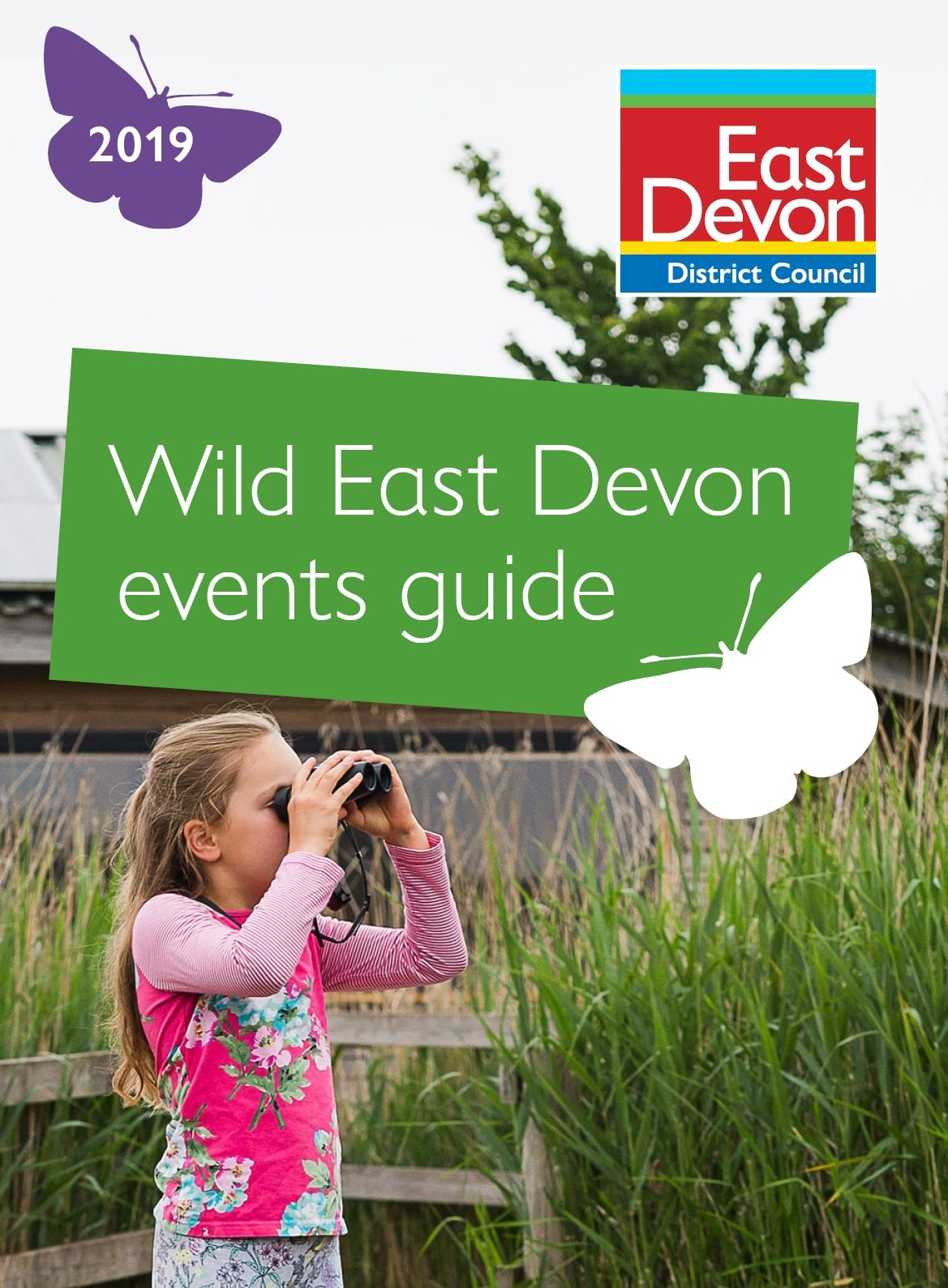 Image of the front page of the East Devon District Council Wild East Devon events guide
