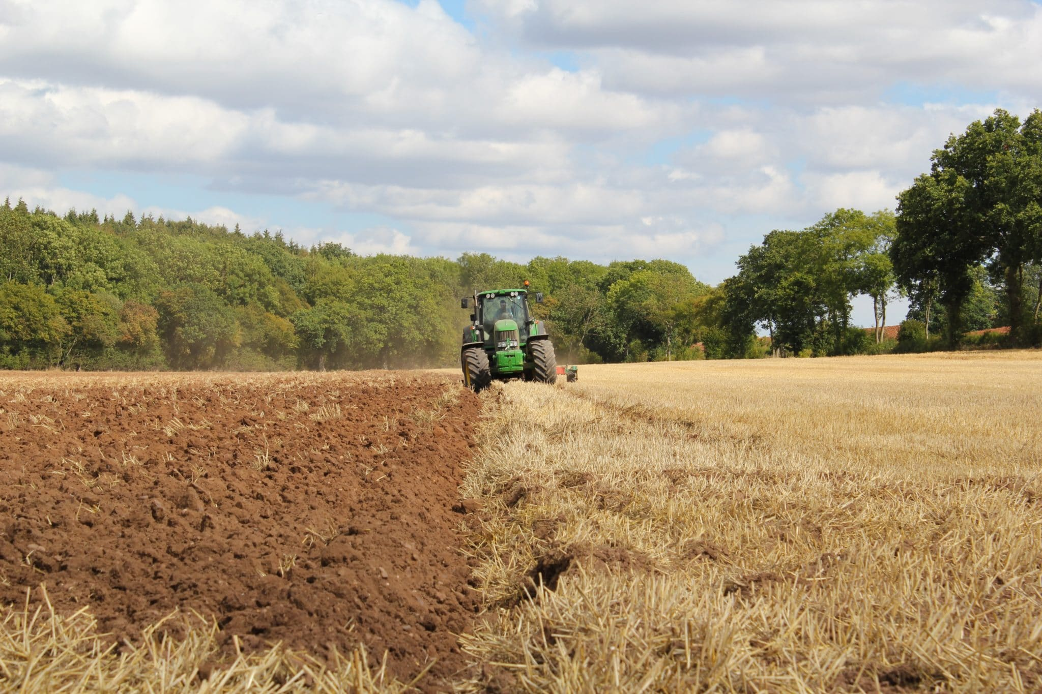 Photo of a tractor ploughing a field by Richard Bell